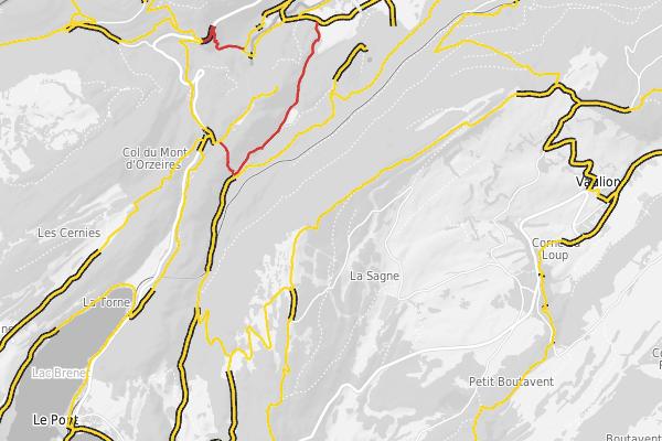 Inventaire cantonal des chemins de randonnées pédestres
